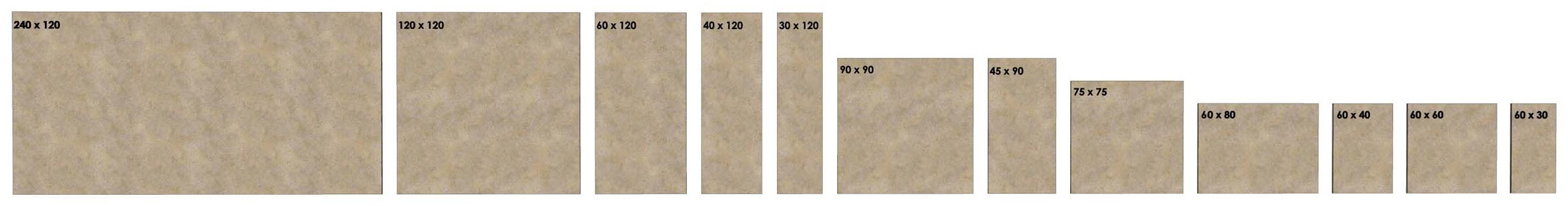 K2 New Tile Sizes - Slim